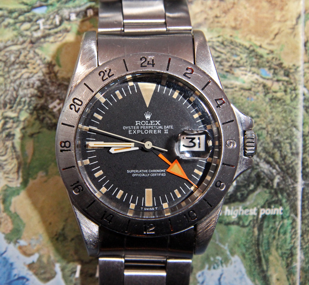 "Early 1972 1655 Explorer II (non-luminous ""baton"" sweep seconds)"