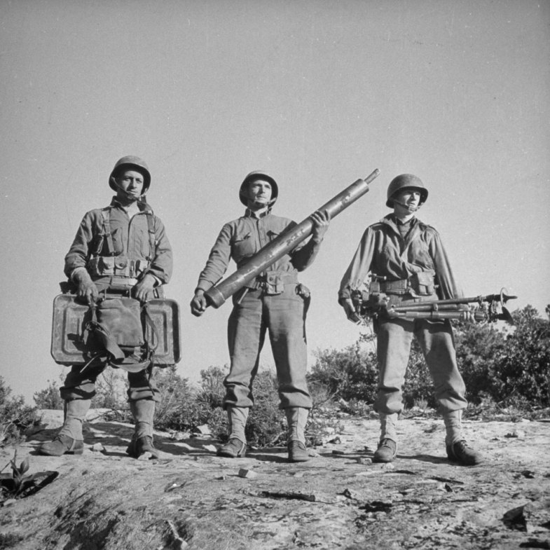 American soldiers in North Africa during the Allied Tunisia Campaign, 1943 (Eliot Elisofon—Time & Life Pictures/Getty Images)