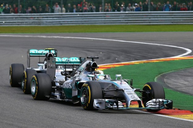 Rosberg Hamilton Spa accident collision