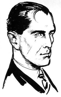 Ian Fleming's own early drawing of Bond